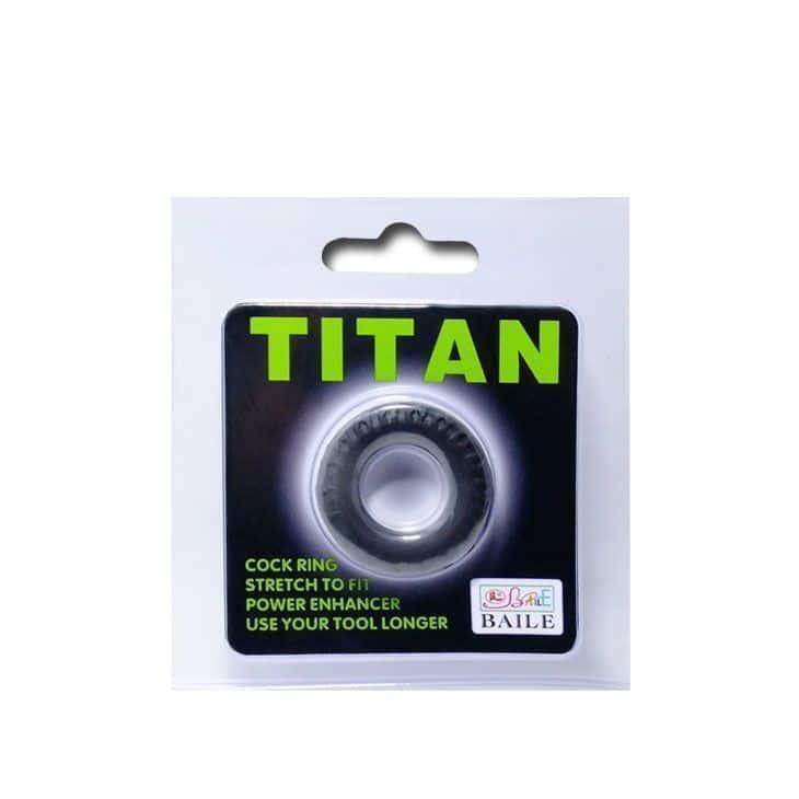 anillo pene cockring titan de venta en el sex shop de santu, esta es una imagen de la caja donde viene