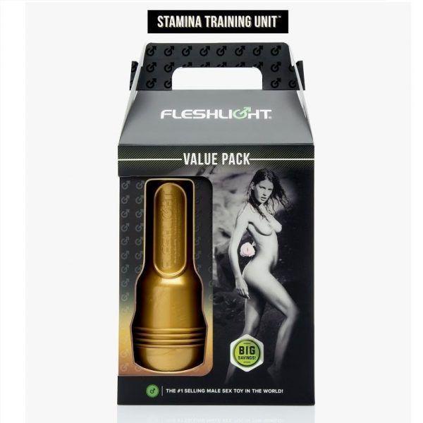 Masturbador Unidad Entrenamiento Fleshlight Foto Caja Exterior de venta en el sex shop de santu