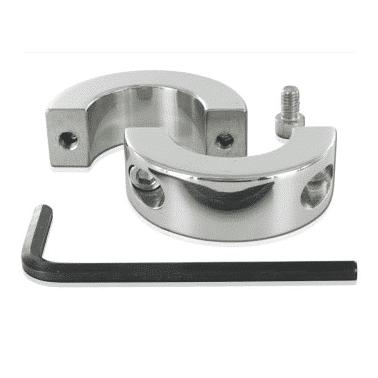 anillo testicular metal con tornillos de fijación y llave de venta en el sexshop online de santu