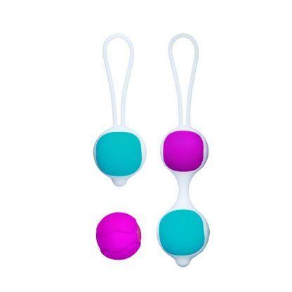 imagen de las 4 bolas chinas de precio exclusivo en posicion central, de venta en el sex shop online de santu