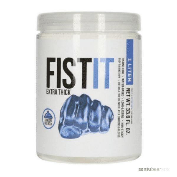 lubricante para hacer fist base acuosa en tarro de 1 litro de la marca fistit, de venta en el sexshop online de santu