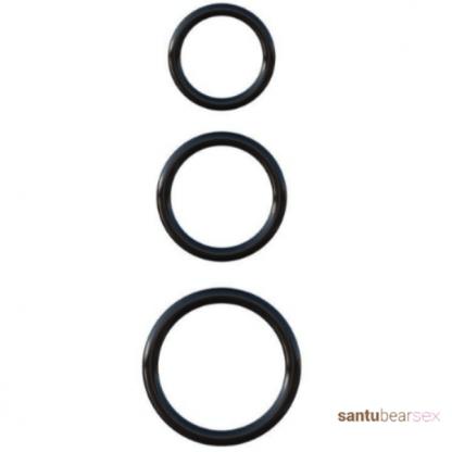 cockring silicona imagen de los tres anillos por separado, de venta en el sex shop de santu