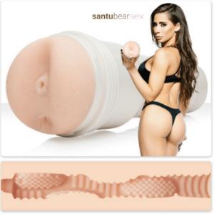 madison ivi ano masturbador fleshlight wonderland imagen de ella de espaldas enseñando el masturbador, de venta en el sex shop online de santu