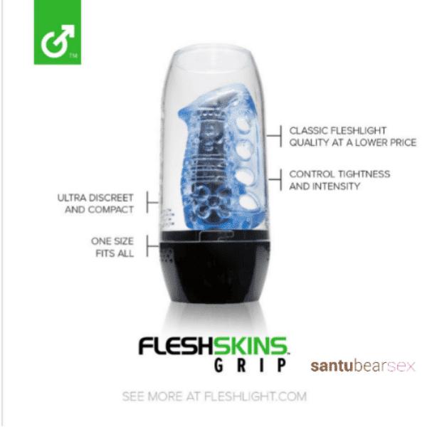 masturbador azul hielo fleshlight imagen del juguete en primer plano