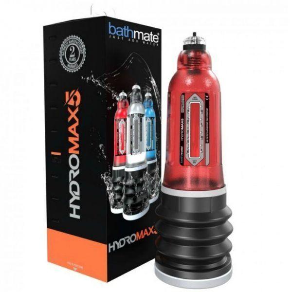 bomba de vacío hydromax 5 rojo con la imegn de su caja en color negro