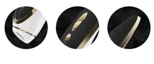 vibrador femenino haute couture satisfyer imagen en detalle de la vista frontal y lateral